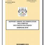 PUBLICATION DU RAPPORT ANNUEL 2018 DE VÉRIFICATION DES COMPTES DES PARTIS POLITIQUES PAR LA SECTION DES COMPTES